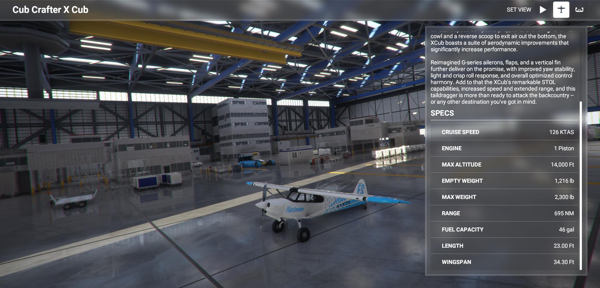 Microsoft Flight Simulator Cub Crafter X Cub