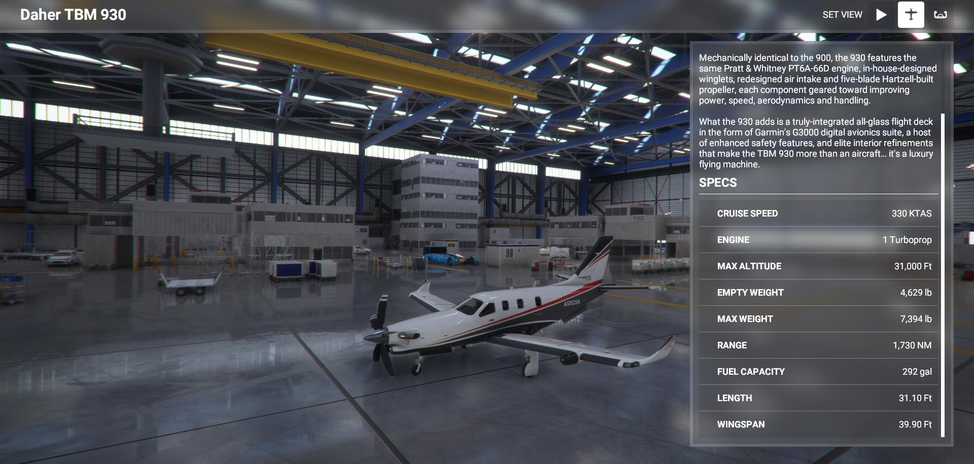 Microsoft Flight Simulator Daher Tbm 930