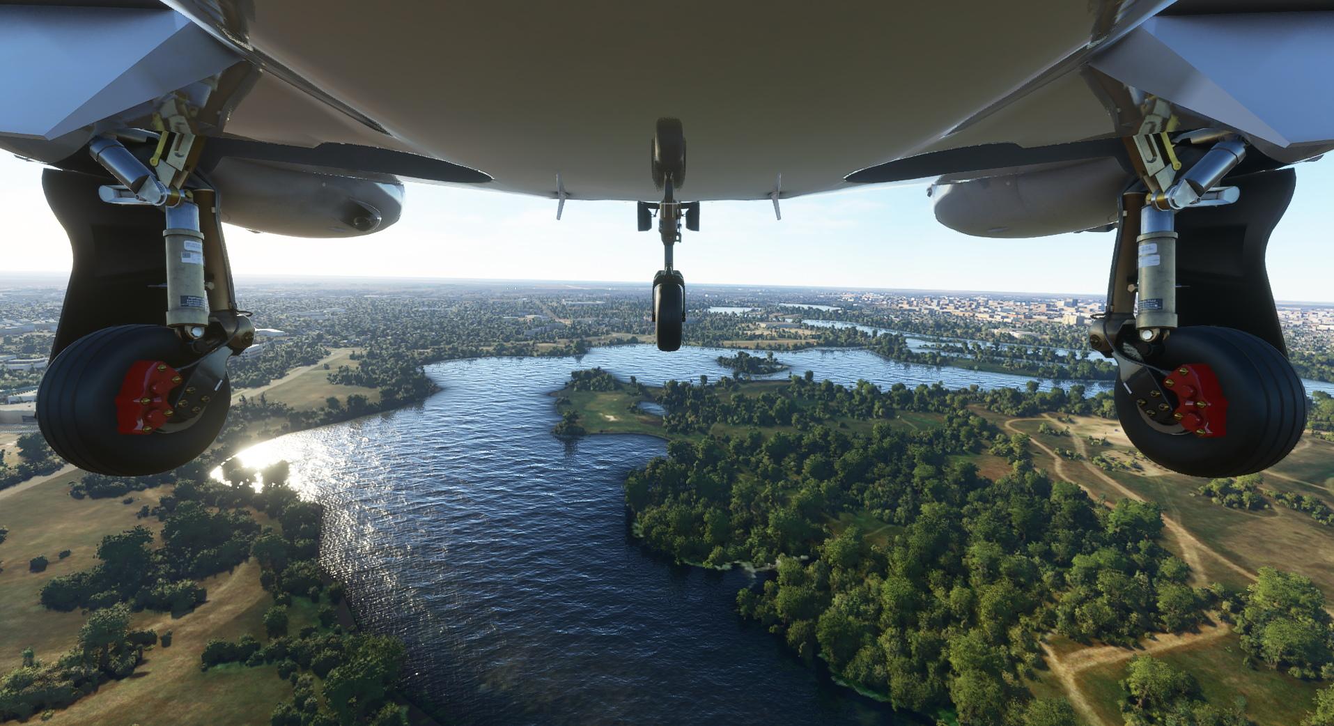 Microsoft Flight Simulator console Diamond River Landing