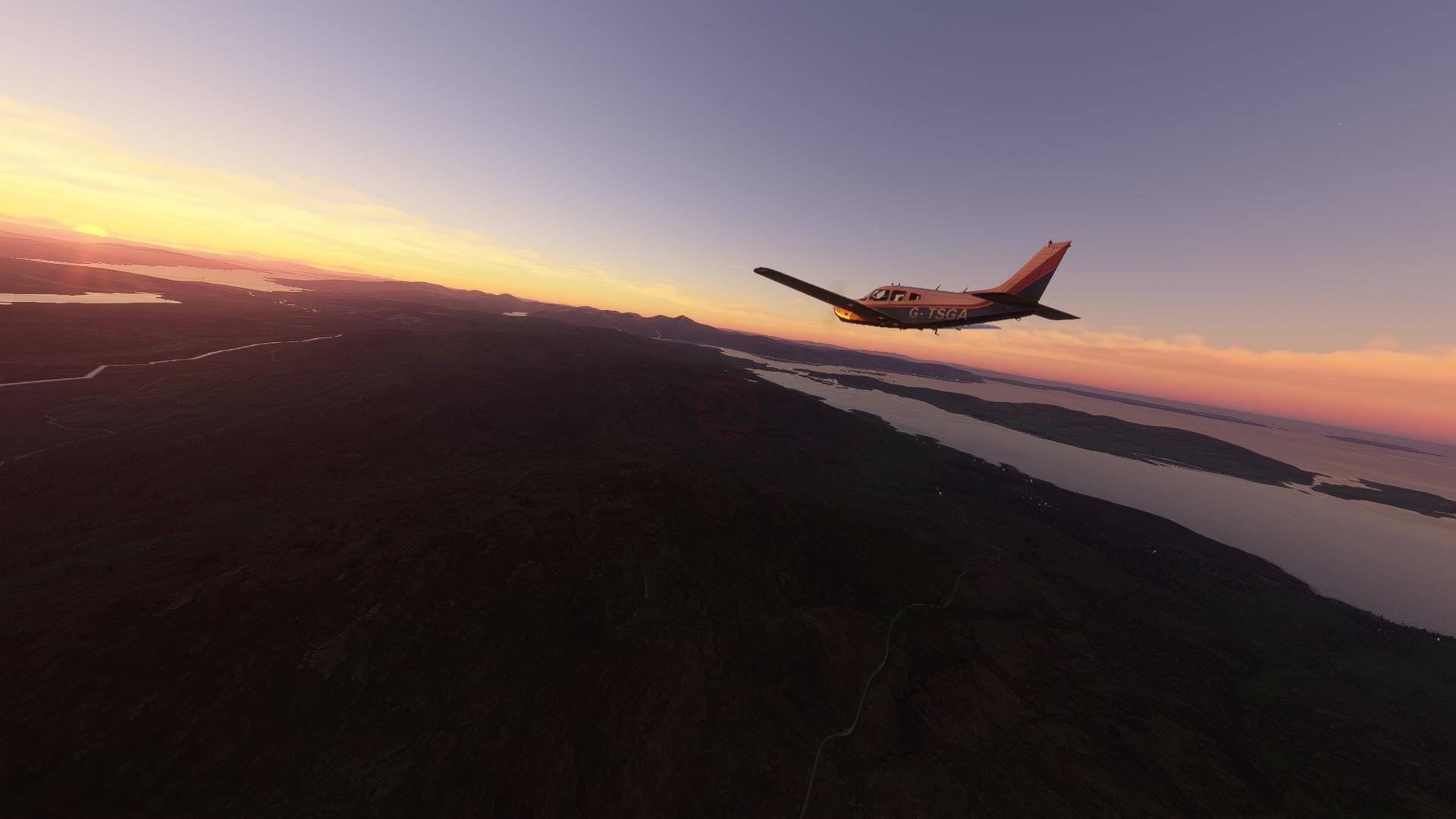 Microsoft Flight Simulator console Just Flight Arrow Scottish Sunset