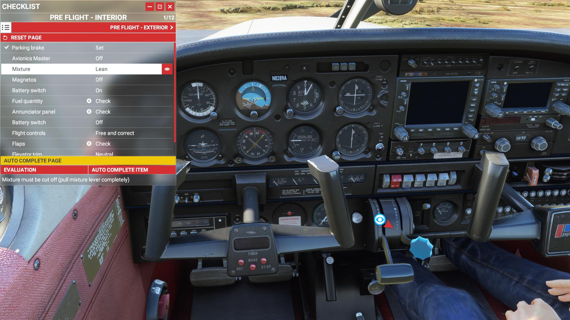 Just Flight Piper Warrior Ii Checklist