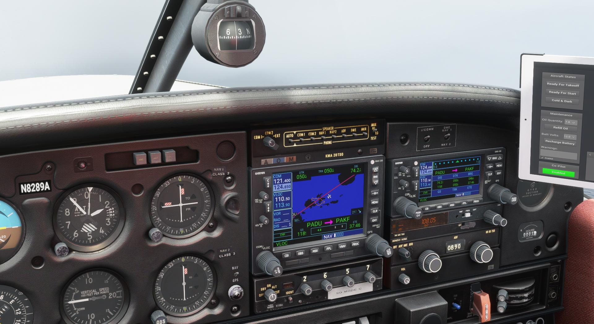 Microsoft Flight Simulator Just Flight Piper Warrior Ii Gps Wind Shot