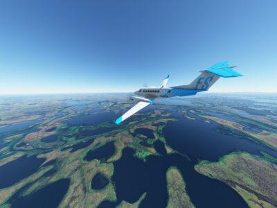 Microsoft Flight Simulator King Air Above The Alaskan Lakes