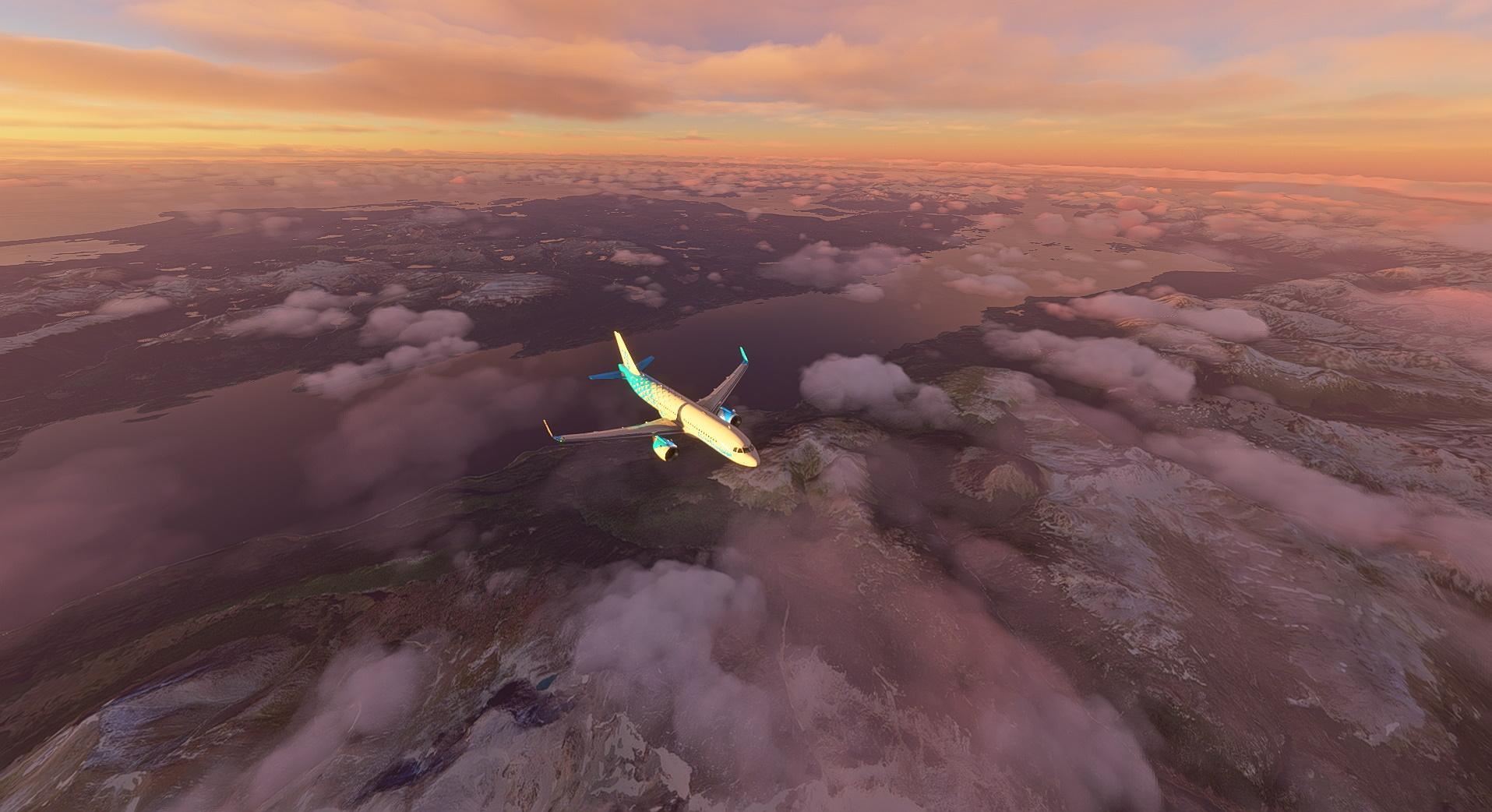 Microsoft Flight Simulator sim world update V 5 Patagonia Aerial