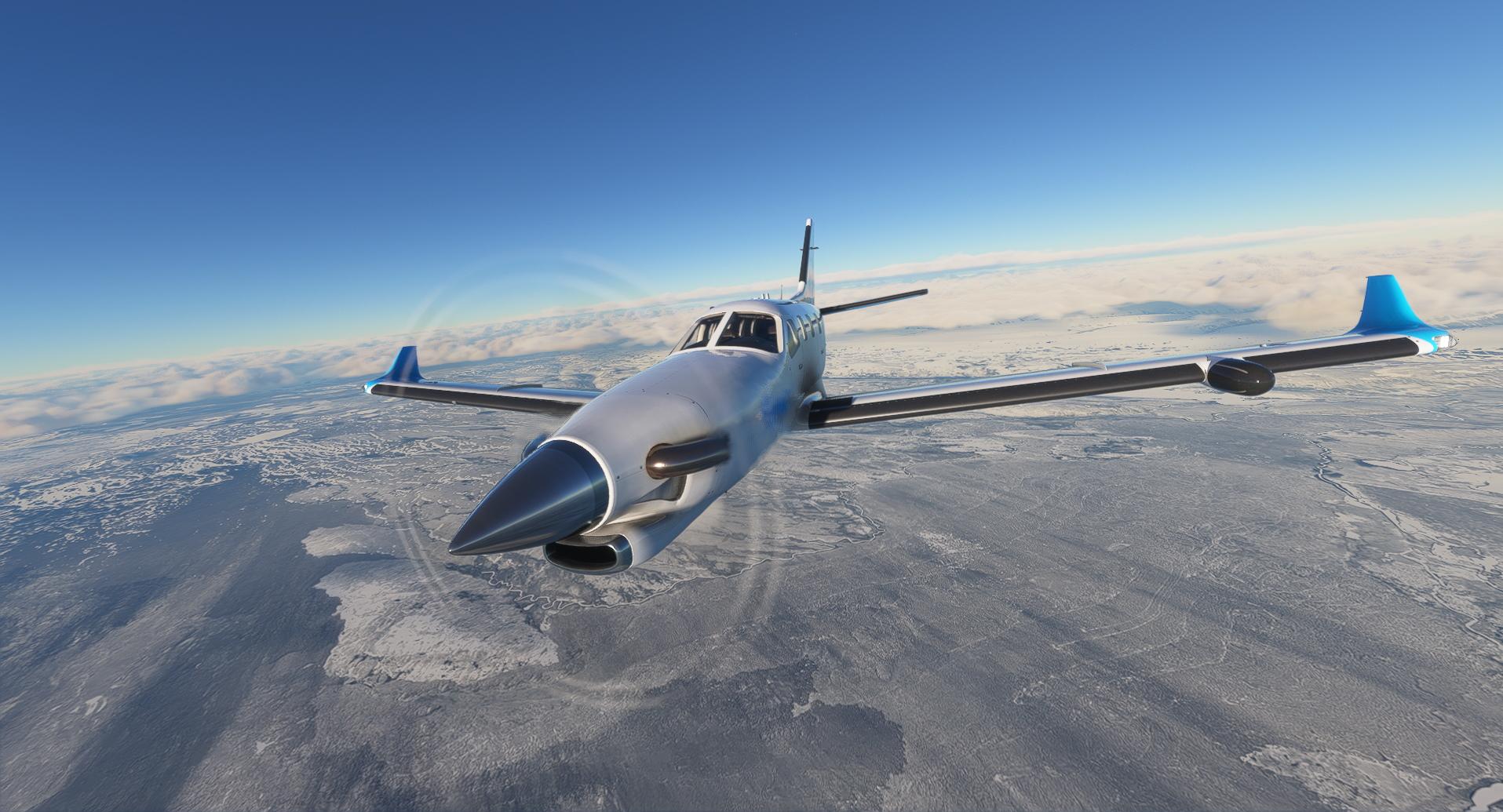 Tbm 930 Over Iceland