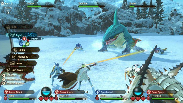 Monster Hunter Stories 2 Wings Of Ruin Frostbite Zamtrios Armor Lagombi Armor Hot Mist 1b