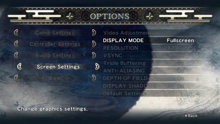 Ninja Gaiden Master Collection Graphics Options