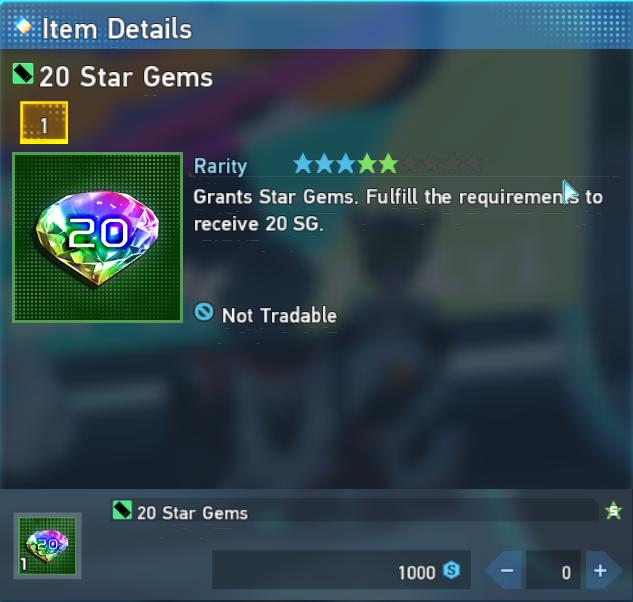 Звездные драгоценные камни сезонных очков Pso2 New Genesis