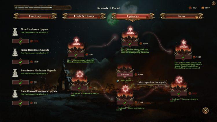Total War Warhammer II Warhammer 2 Руководство по переработке зверолюдов Стадо Кровавое поле Ужасные улучшения благосклонности 2c