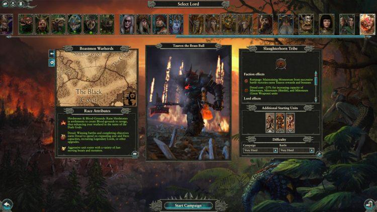 Total War Warhammer II Warhammer 2 Руководство по Тауроксу Slaughterhorn Rampage Momentum Beastmen Rework 2