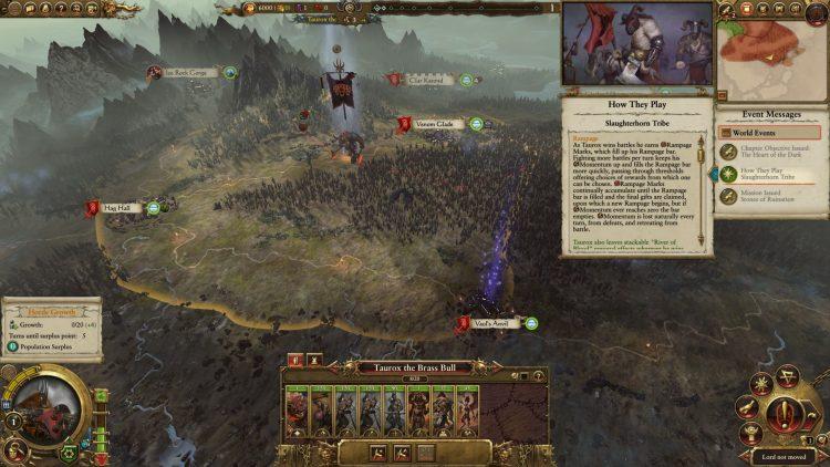 Total War Warhammer II Warhammer 2 Руководство по Тауроксу Slaughterhorn Rampage Momentum Beastmen Rework 3a