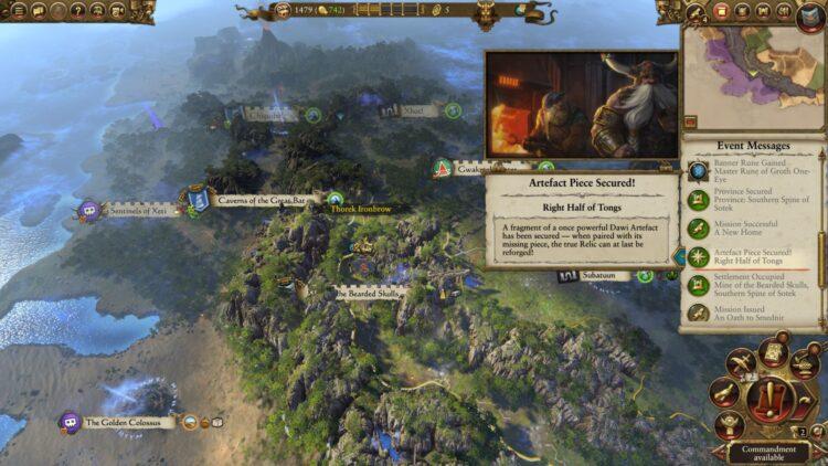 Total War Warhammer Ii Warhammer 2 Thorek Ironbrow Artifacts Artifact Vault Guide 1a