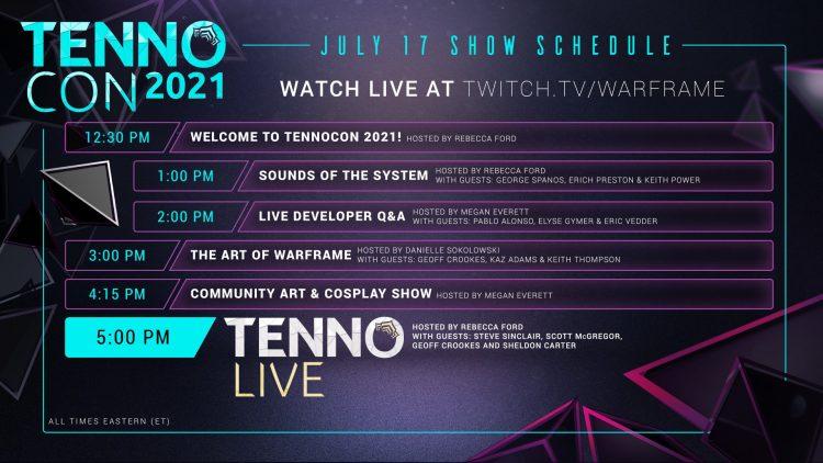 Warframe Tennocon 2021 Rewards Expansion The New War Schedule