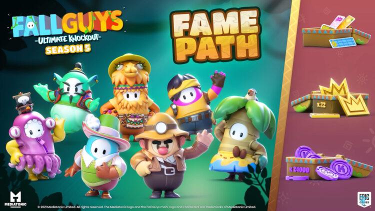 Fall Guys Season 5 Gameplay Trailer Release Fame Path Pass
