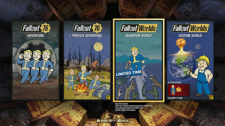 Fallout 76 Public Worlds Custom Worlds Servers Release Test