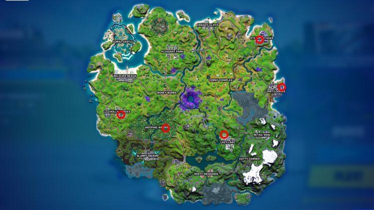 Fortnite Alien Artifacts Locations Season 7 Week 4 Map