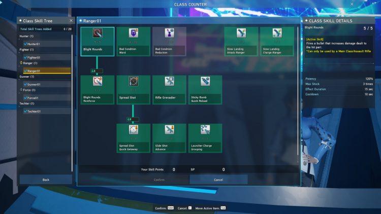 Pso2 New Genesis Ranger Skill Tree