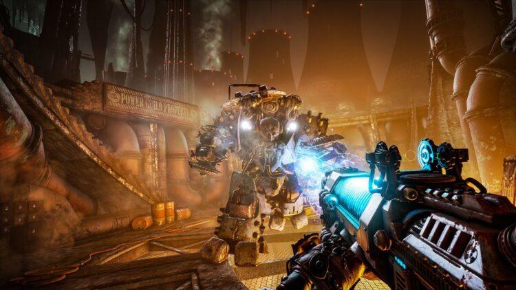 Necromunda: Hired Gun slow-motion firefight