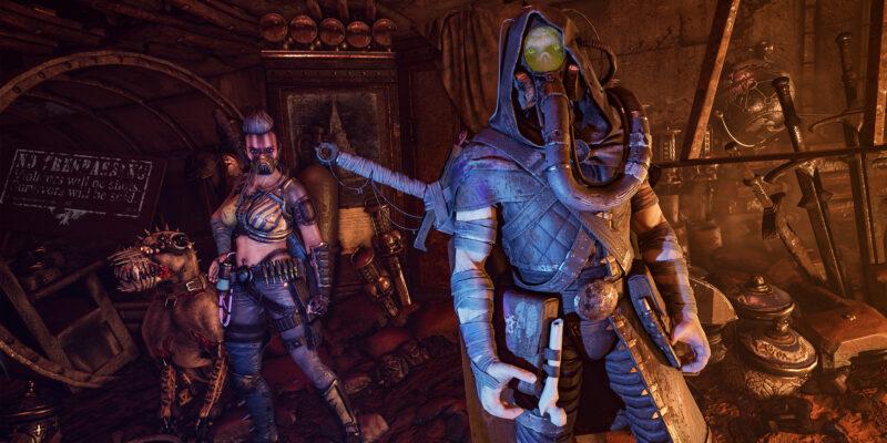 Necromunda: Hired Gun slow-motion characters