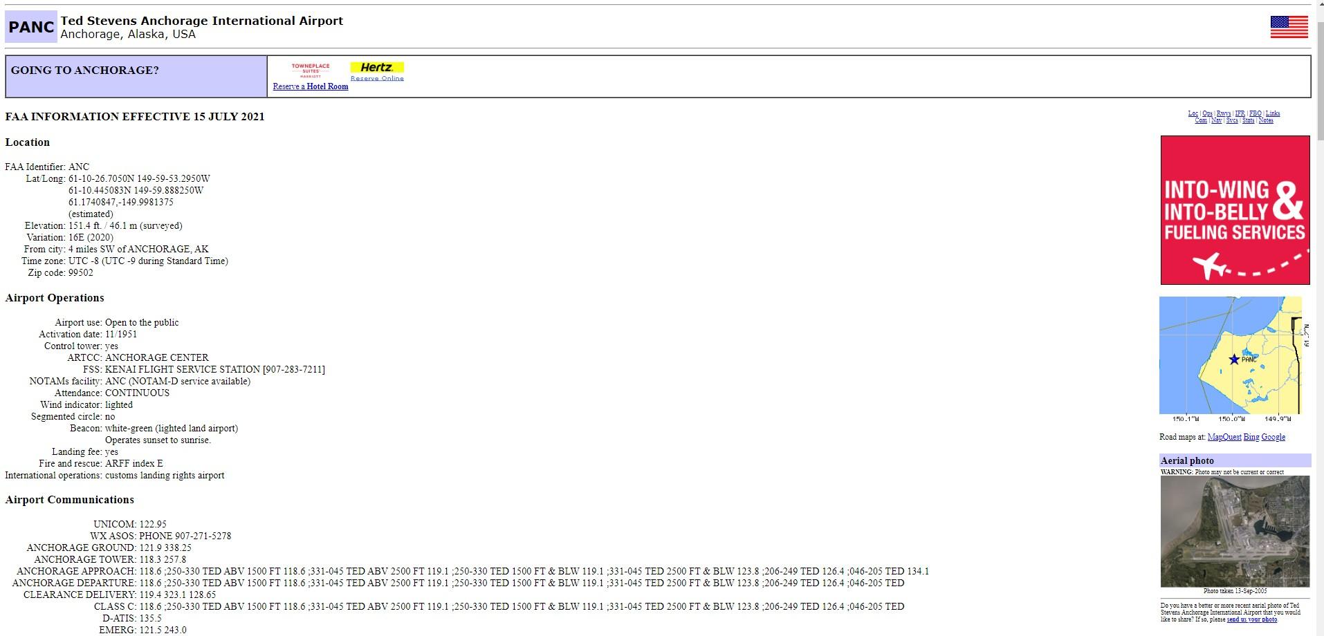 Airnav Panc Ted Stevens Anchorage International Airport Google Chrome 8 1 2021 6 28 22 Pm
