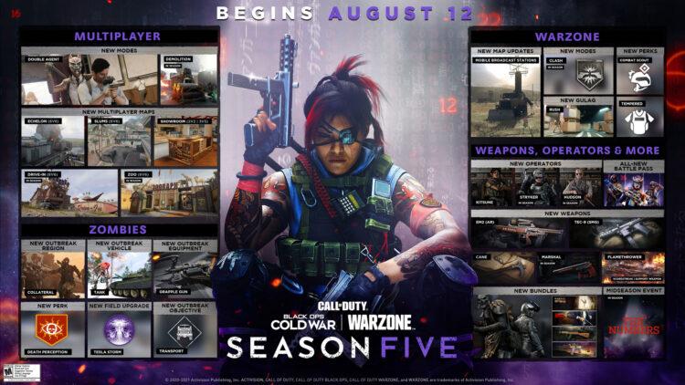 Black Ops Cold War And Warzone Season Five Roadmap