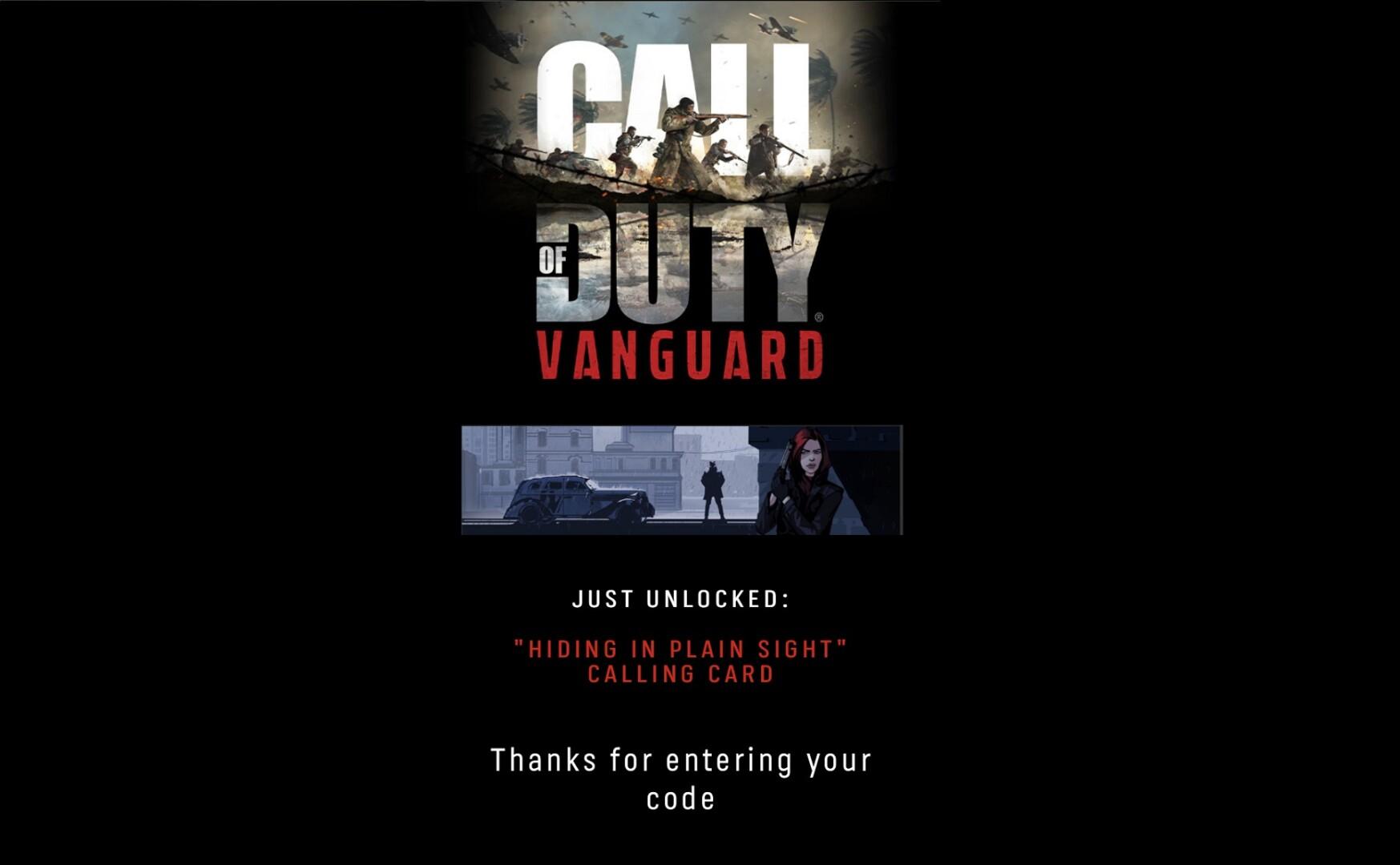 Black Ops Cold War Redeem Free Calling Card