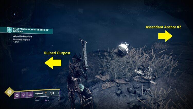 Destiny 2 Season Of The Lost Shattered Realm Debris Of Dreams Week 2 Руководство по восходящим якорям Parallax Trajectory 2