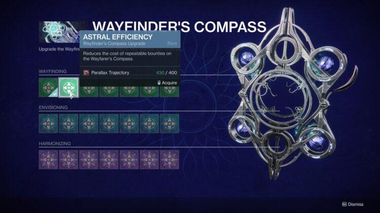Destiny 2 Season Of The Lost Wayfinder's Compass Upgrades Parallax Trajectory 1