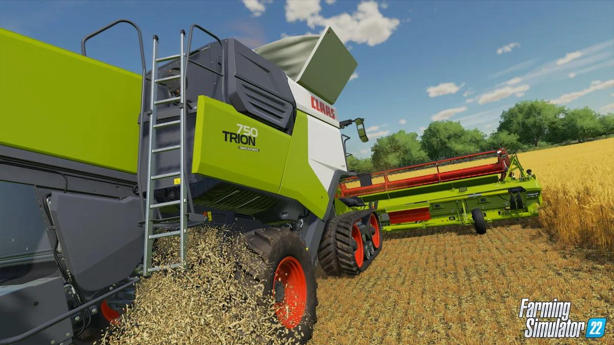 Farming Simulator 22 Trion 750 claas combine harvester