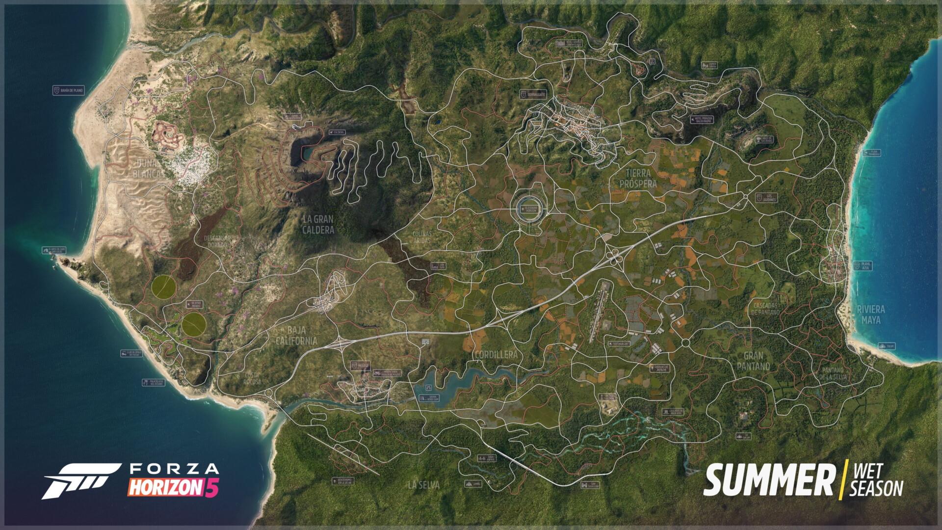 Forza Horizon 5 Full Map Of Mexico