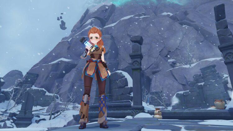 Genshin Impact Aloy Guide Aloy Лучшее оружие Лучший артефакт Лучшие наборы артефактов Лучшие таланты Build Predator Bow Blizzard Strayer 1a