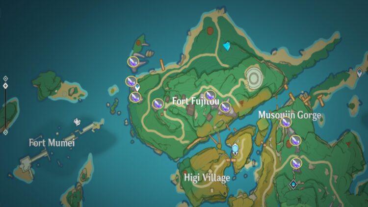Genshin Impact Crystal Marrow Farming Locations Guide Aloy Sayu Ascension Guide 1a
