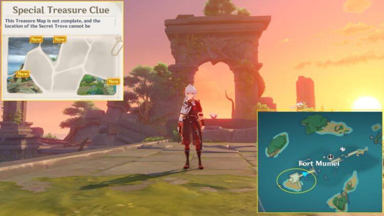Genshin Impact Lost Riches 2.0 Inazuma Day 3 Special Treasure #2 Location Puzzle Map Clue 1