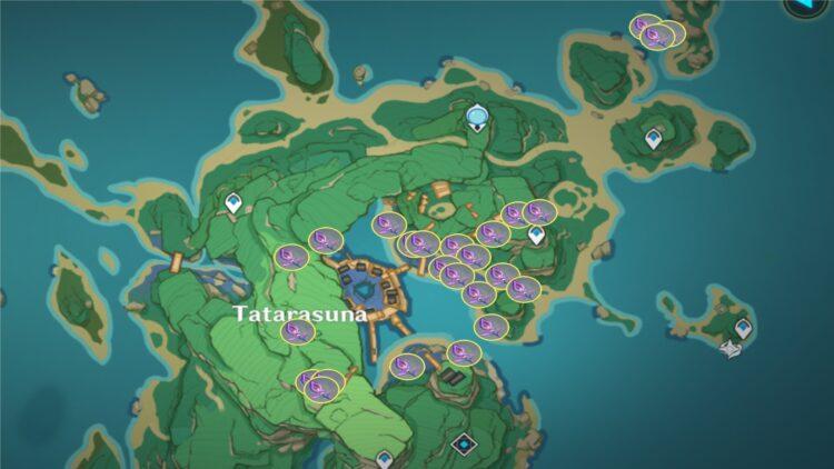Genshin Impact Naku Weed Farming Locations Guide Yoimiya Ascension Guide 1a