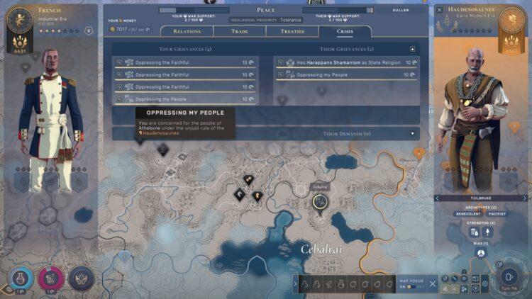 Humankind Diplomacy War Score War Support Grievances Demands Guide 1a
