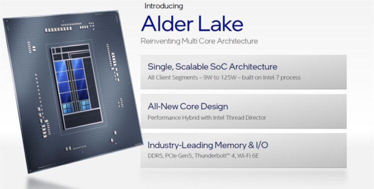 Intel Alder Lake specs release hybrid performance gaming