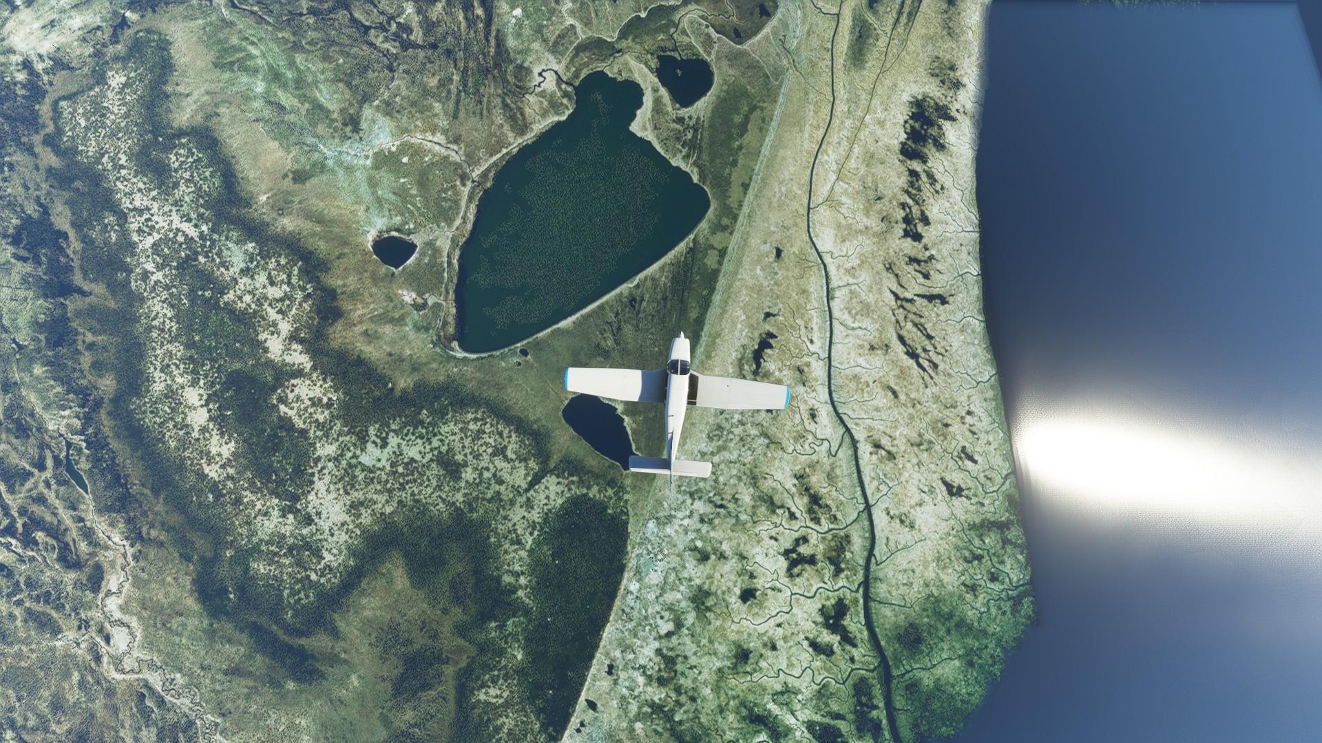 Microsoft Flight Simulator Just Flight Piper Warrior Ii Alaska Aerial