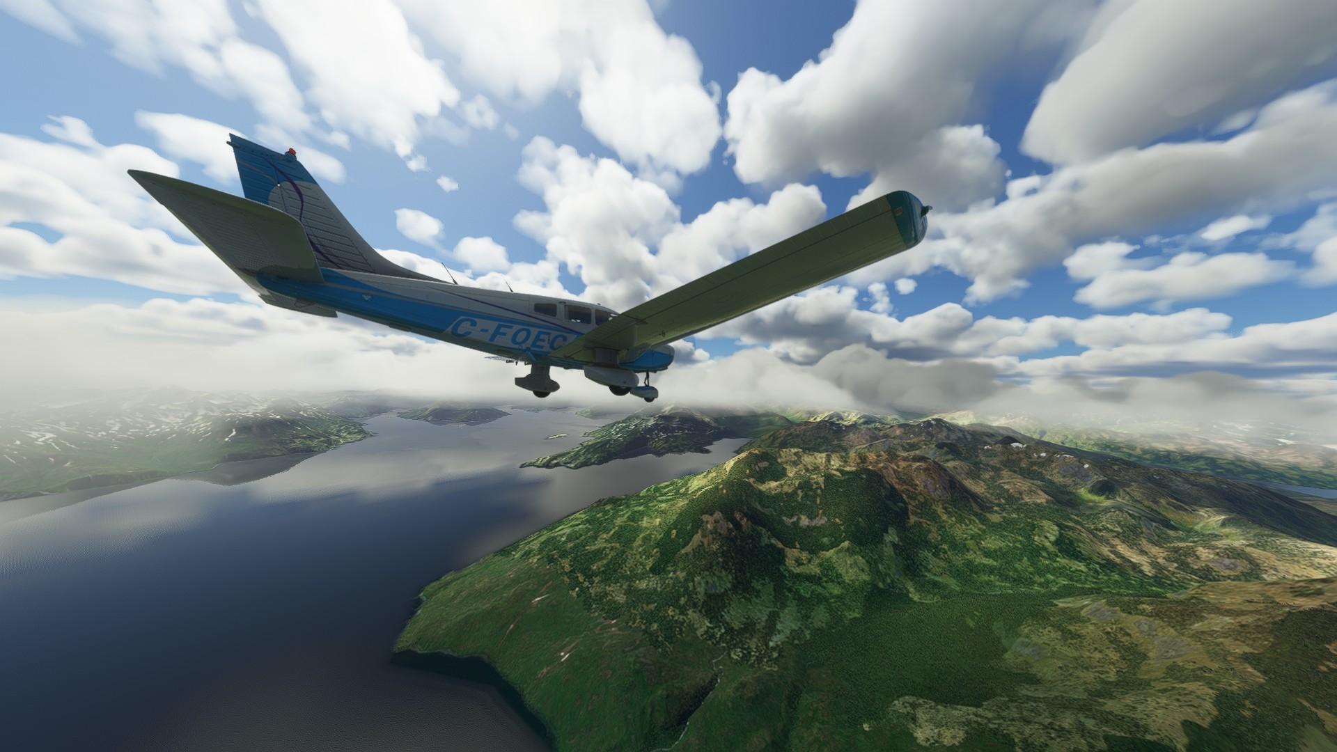 Microsoft Flight Simulator Just Flight Piper Warrior Ii Alaskan Mountains 2