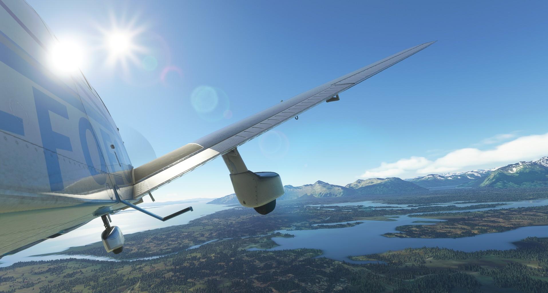 Microsoft Flight Simulator Just Flight Piper Warrior Ii Barnstorming Alaksa 2
