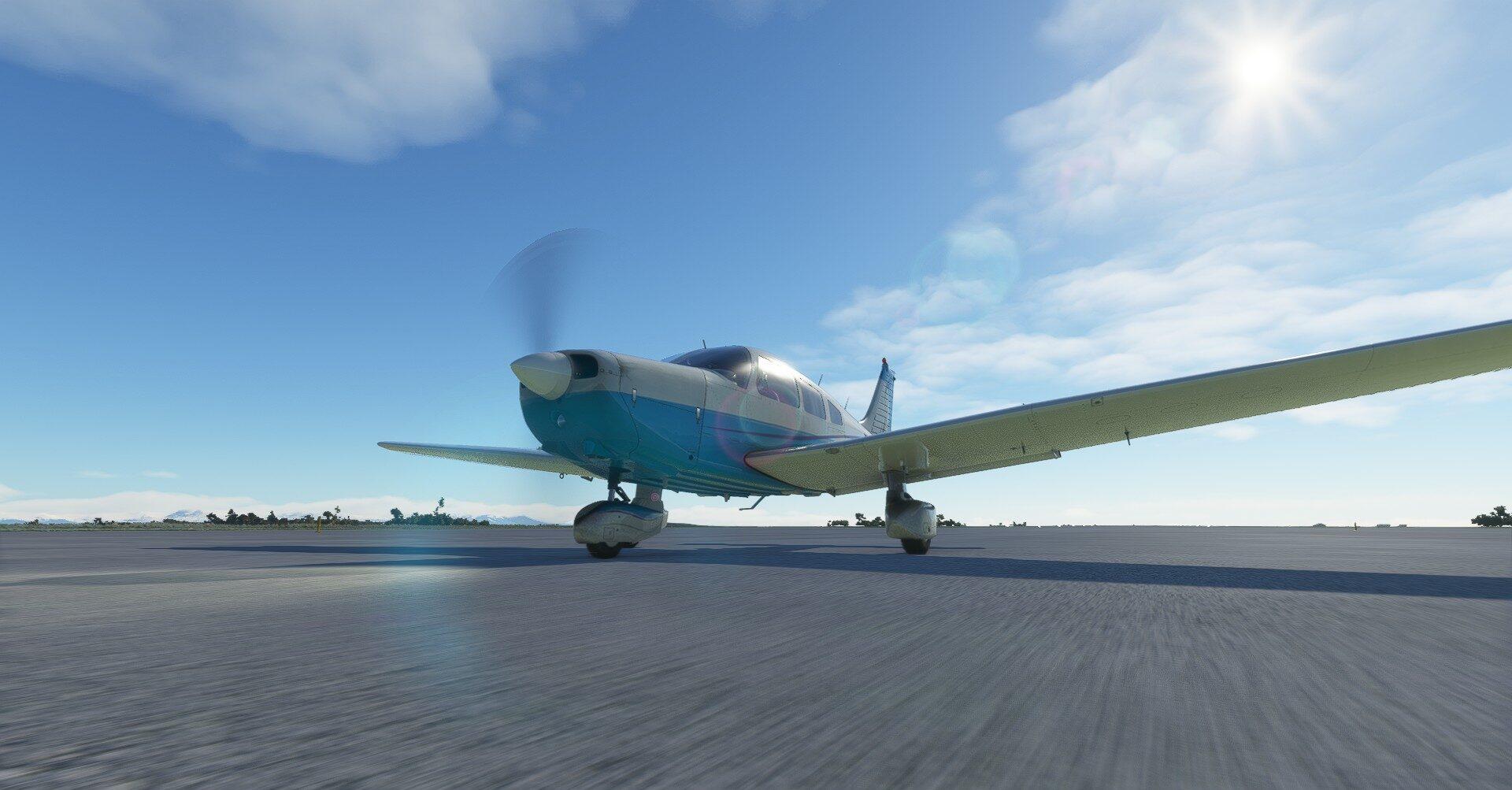 Microsoft Flight Simulator Just Flight Piper Warrior Ii Runway Speed
