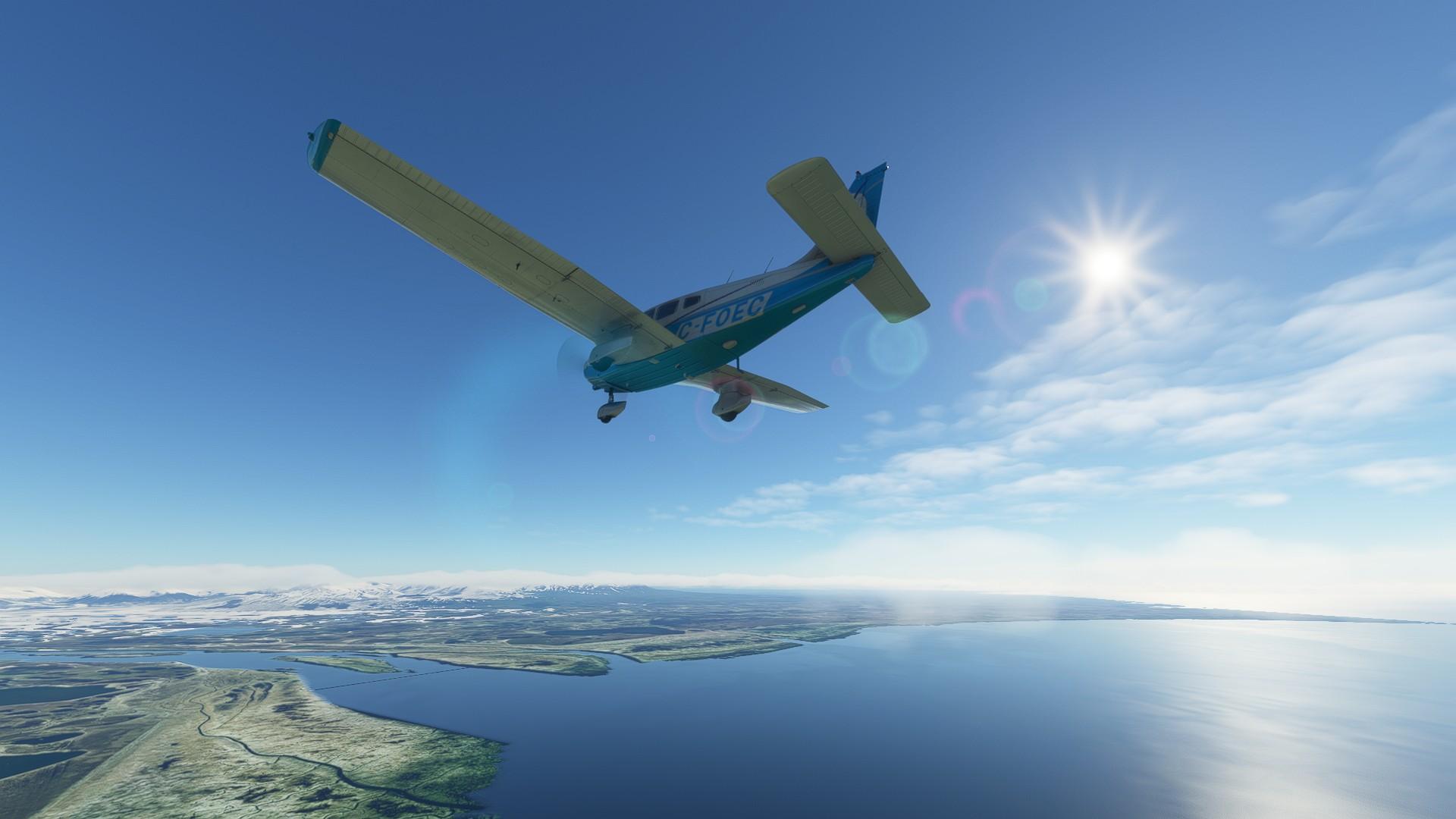 Microsoft Flight Simulator Just Flight Piper Warrior Ii Sunny Alaska