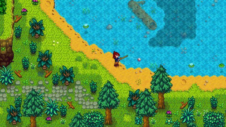 Stardew Valley Xbox Game Pass fishing