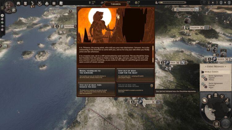 Total War Saga Troy Mythos Cerberus Guide Cerberus Expedition Dilemmas Events Decisions Quest Battle Boss 1b
