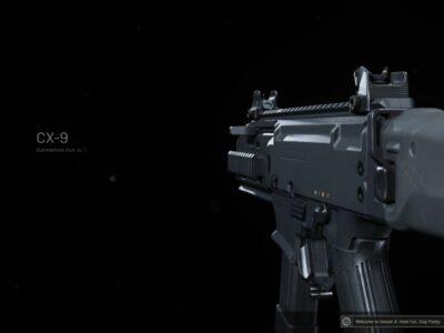 Warzone CX-9 submachine gun best loadout