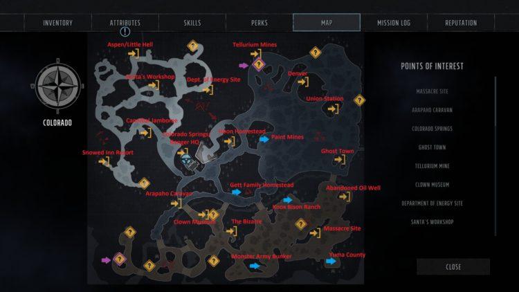 Wasteland 3 World Map
