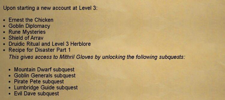 Quest Unlocks