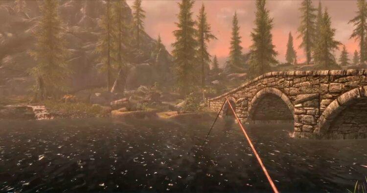 The Elder Scrolls Skyrim Anniversary Edition November Release Date Fishing Screen