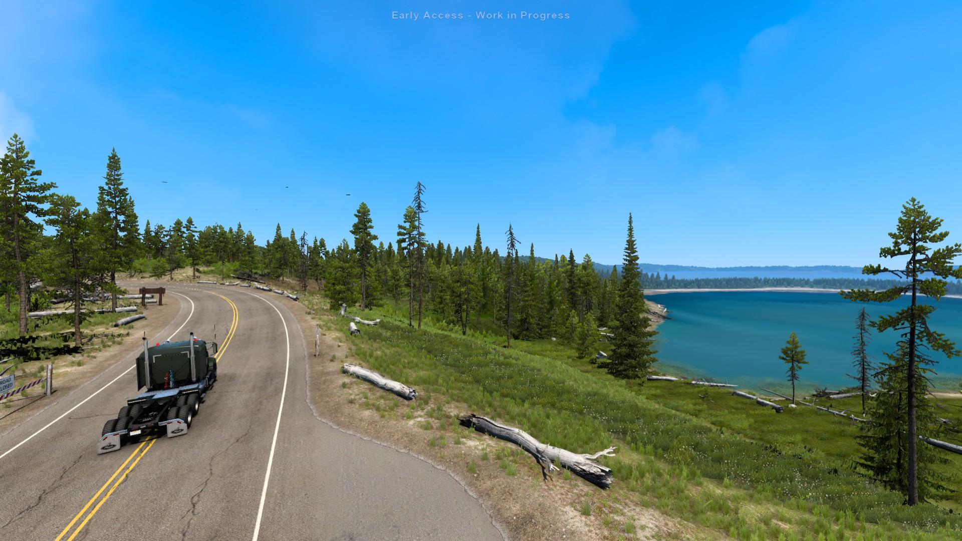 American Truck Simulator Grand Teton And Yellowstone Lakes
