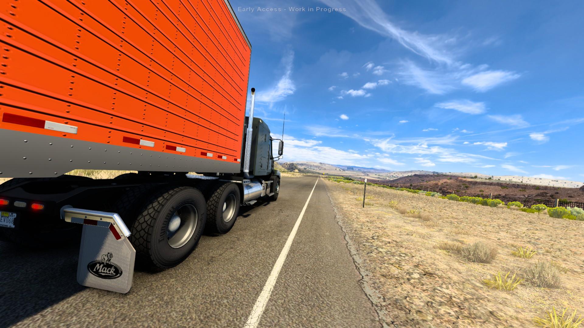 American Truck Simulator Open Road Low Angle Wyoming