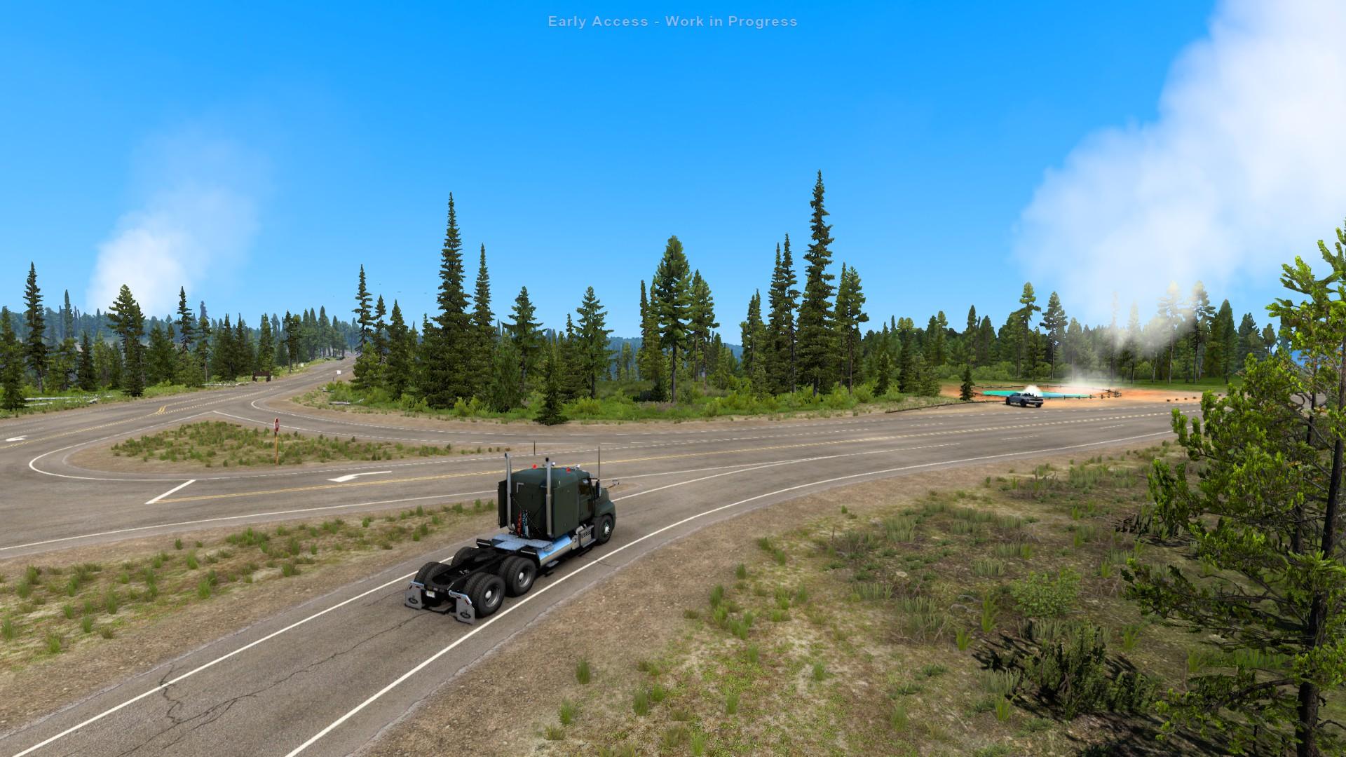 American Truck Simulator Wyoming Grand Teton Yellowstone 3